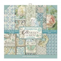 Stamperia Double Sided Paper Pad 12 x 12 inch Azulejos
