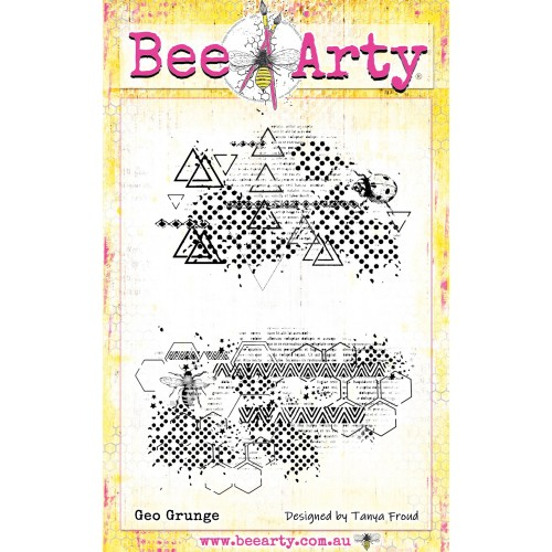 Bee Arty Clear Stamp - Geo Grunge
