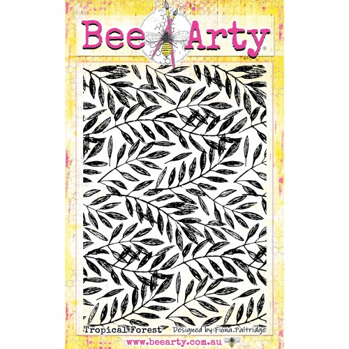 Bee Arty Clear Stamp - Tropical Forest
