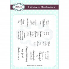 Creative Expressions - Fabulous Sentiments  Stamp Set