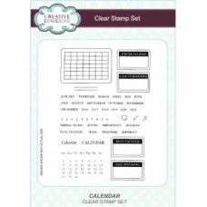 Creative Expressions - Calendar Clear Stamp Set