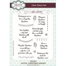 Creative Expressions - Joyful Christmas Wishes - Stamp Set
