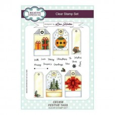 Creative Expressions Festive Tags Clear Stamp Set