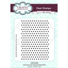 Creative Expressions Polka Dot Background Stamp
