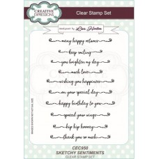Creative Expressions Sketchy Sentiments Clear Stamp Set