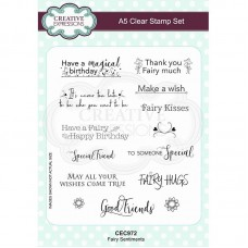 Creative Expressions - Fairy Sentiments Clear Stamp Set