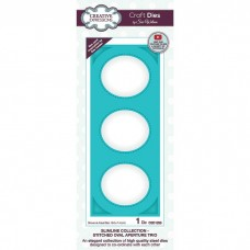 Creative Expressions - Slimline Collection - Stitched Oval Apperture Trio