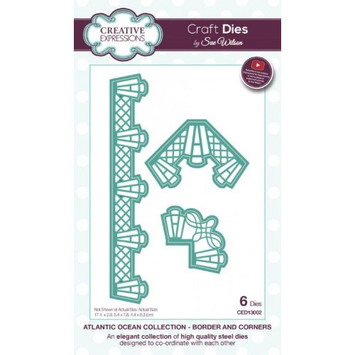 Creative Expressions - Atlantic Ocean Collection - Border And Corners Dies