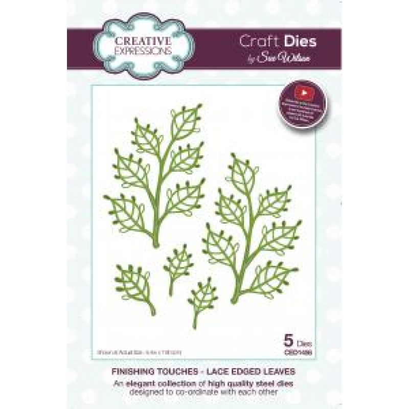 Creative Expressions - Sue Wilson - Laced Edge Leaves Die
