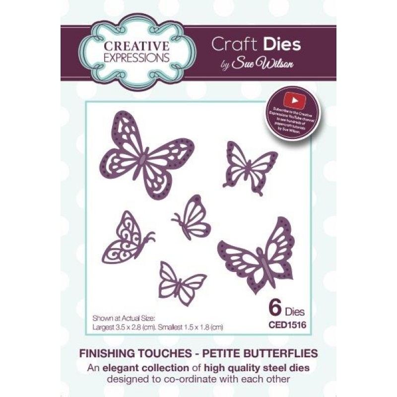 Creative Expressions - Sue Wilson - Finishing Touches - Petite Butterflies