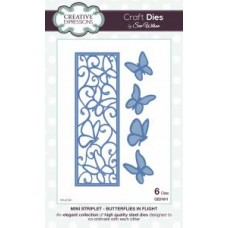 Creative Expressions - Sue wilson - Mini Striplet - Butterflies In Flight Die