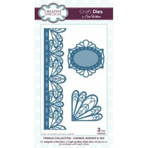 Creative Expressions - French Collection - Corner, Border And Tag Dies