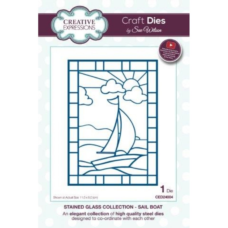 Creative Expressions - Sue Wilson - Stained Glass Collection - Sail Boat