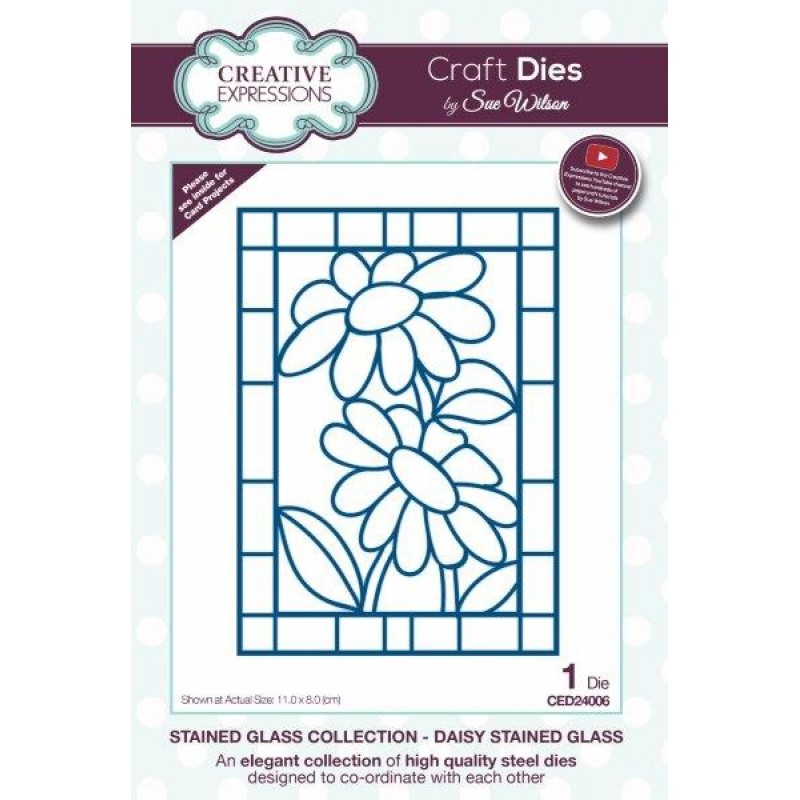 Creative Expressions - Sue Wilson - Stained Glass Collection - Daisy Stained Glass
