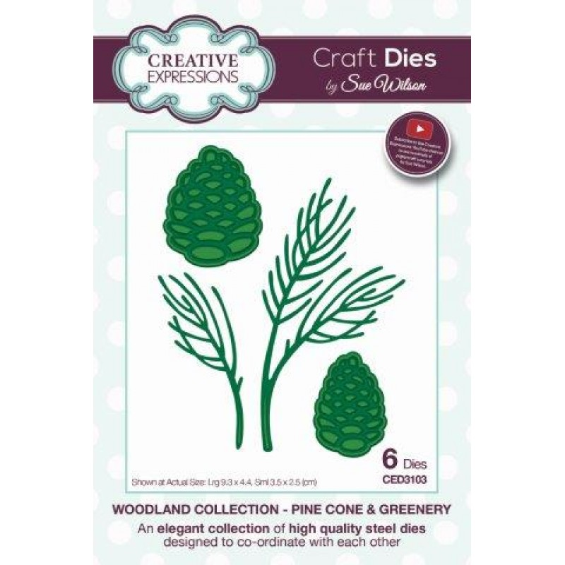 Creative Expressions - Woodland Collection - Pine Cone & Greenery