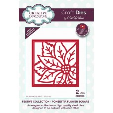 Creative Expressions Sue Wilson Festive collection - Poinsettia Flower Square