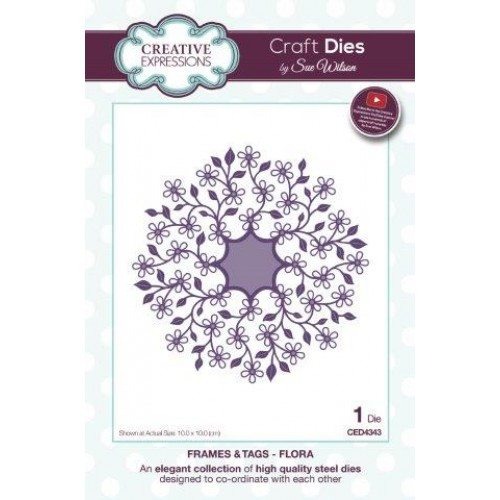 Creative Expressions - Frames &Tags - Flora Die