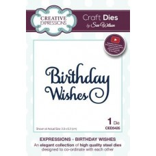 Creative Expressions - Expressions - Birthday Wishes Die