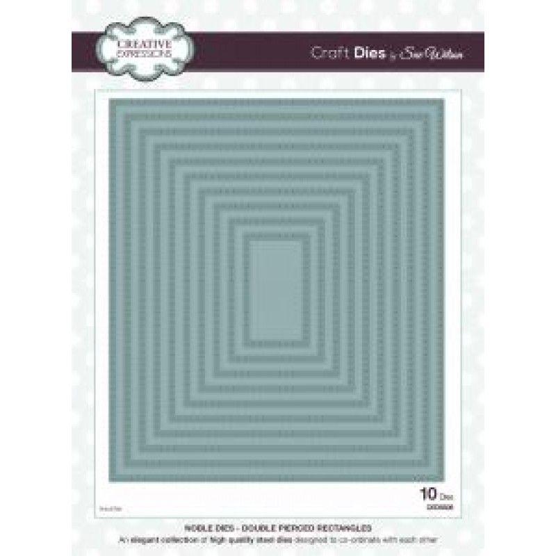 Creative Expressions - Sue Wilson - Noble Dies - Double Pierced Rectangles