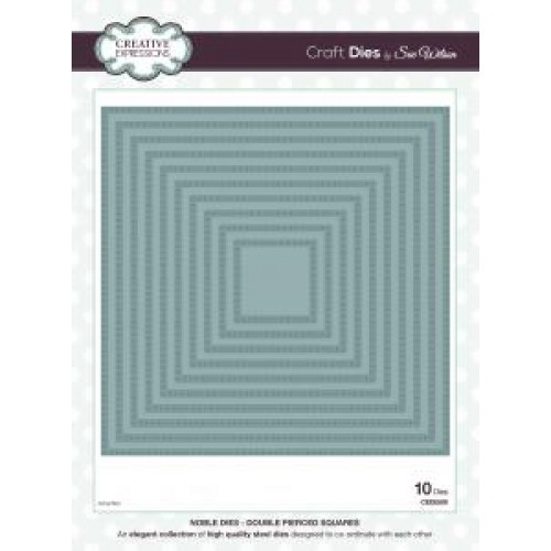 Creative Expressions - Sue Wilson - Noble Dies - Double Pierced Squares
