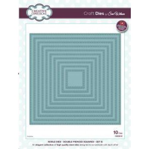 Creative Expressions  Noble Dies - Double Pierced Squares Set B