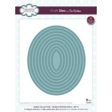 Creative Expressions Craft Dies by Sue Wilson Noble Collection - Double Pierced Ovals - Set B