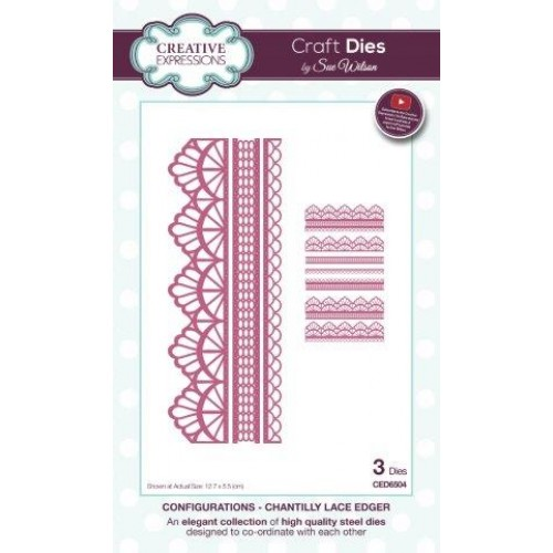 Creative expressions - Sue Wilson - Configurations - Chantilly Lace Edger