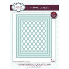 Creative Expressions Shadow Box Collection - Stitched Lattice Frames