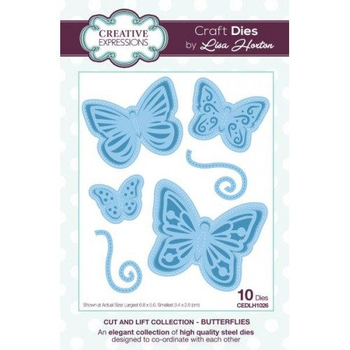 Creative Expressions - Lisa Horton - Cut And Lift Collection - Butterflies