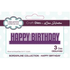 Creative Expressions Lisa Horton Borderline Collection Happy Birthday