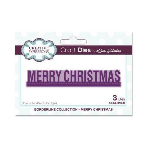 Creative Expressions Craft Dies By Lisa Horton - Borderline Collection -  Merry Christmas