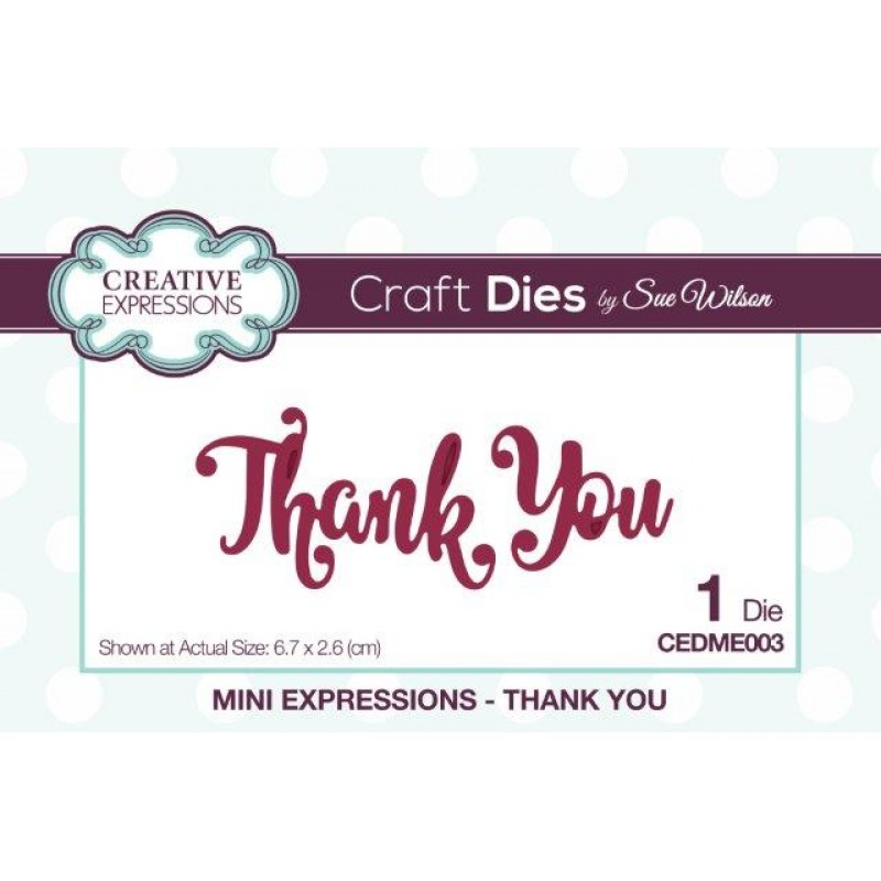 Creative Expressions - Mini Expressions - Thank You