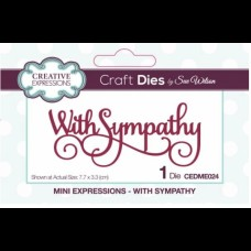 Creative Expressions  - Mini Expressions - With Sympathy