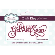 Creative Expressions Sue Wilson Mini Expressions Get Well Soon