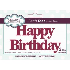 Creative Expressions - Noble Expressions - Happy Birthday