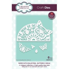 Creative Expressions Paper Cuts Craft Dies paper Cuts Collection -  Butterfly Circle