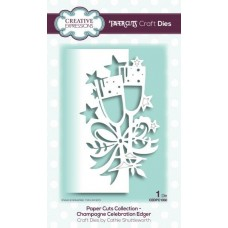 Creative Expressions Paper Cuts Craft Dies paper Cuts Collection -  Champagne Celebration Edger