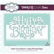 Creative Expressions Paper Cuts Happy Birthday Edger