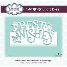 Creative Expressions Paper Cuts Craft Dies Paper Cuts Collection - Best Wishes Edger