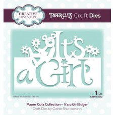 Creative Expressions Paper Cuts It's a Girl Edger