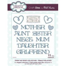 Creative Expressions From The Heart Collection - Female Relatives Dies