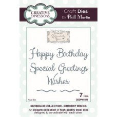 Creative Expressions - Scribbled Collection - Birthday Wishes