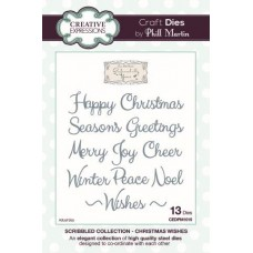 Creative Expressions - Phill Martin - Scribbled Collection - Christmas Wishes Dies