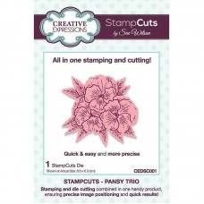 Creative Expressions - Stampcuts - Pansy Trio