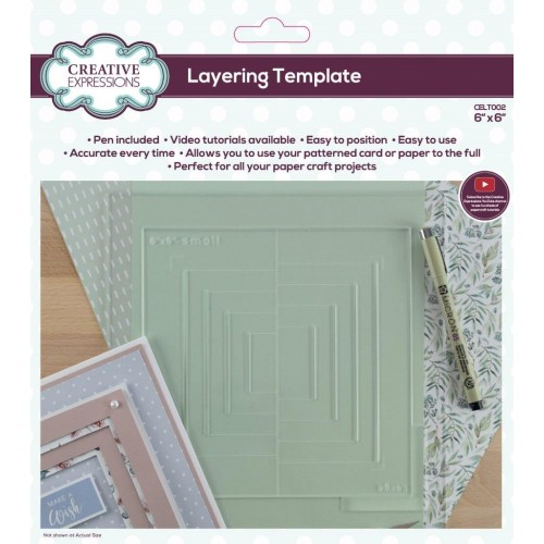 "Creative Expressions Layering Template 6"" x 6"""