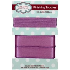 "Satin Ribbon Amethyst 3m each 3/4"" x 1/16"""