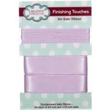 "Satin Ribbon Orchid 3m each 3/4"" x 1/16"""
