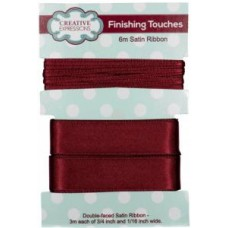 "Satin Ribbon Raisin 3m each 3/4"" x 1/16"""