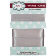 "Satin Ribbon Silver 3m each 3/4"" x 1/16"""