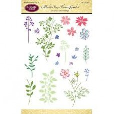 JustRite - Clear - Multi - Step Flower Garden Stamps
